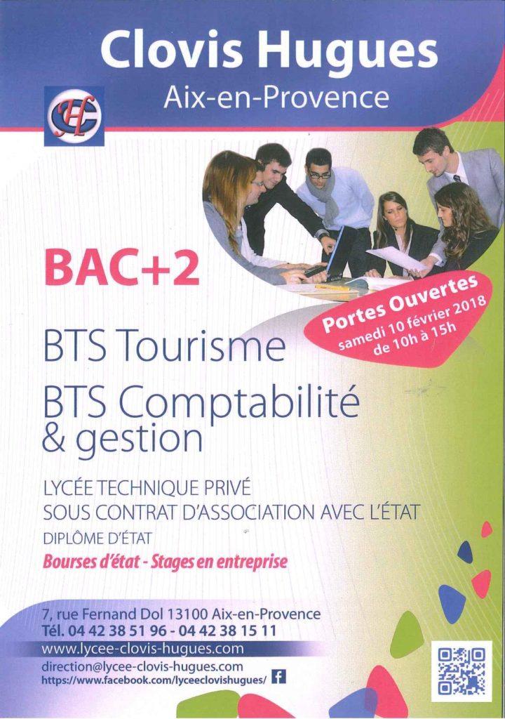 journée portes-ouvertes BTS Tourisme et BTS Comptabilité-Gestion à Aix-en-Provence