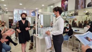 Remise des pris au Concours de coiffure, Mlle BACHIMONT Océane