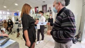 Remise des pris au Concours de coiffure, Mlle GATRI Rania